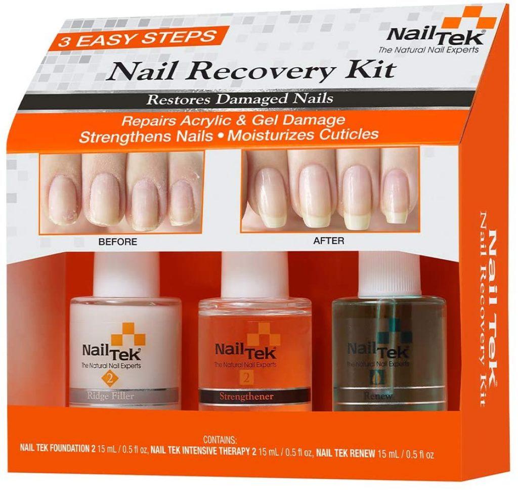 NailTek Nail Recovery Kit, Cuticle Oil, Strengthener, Ridge Filler