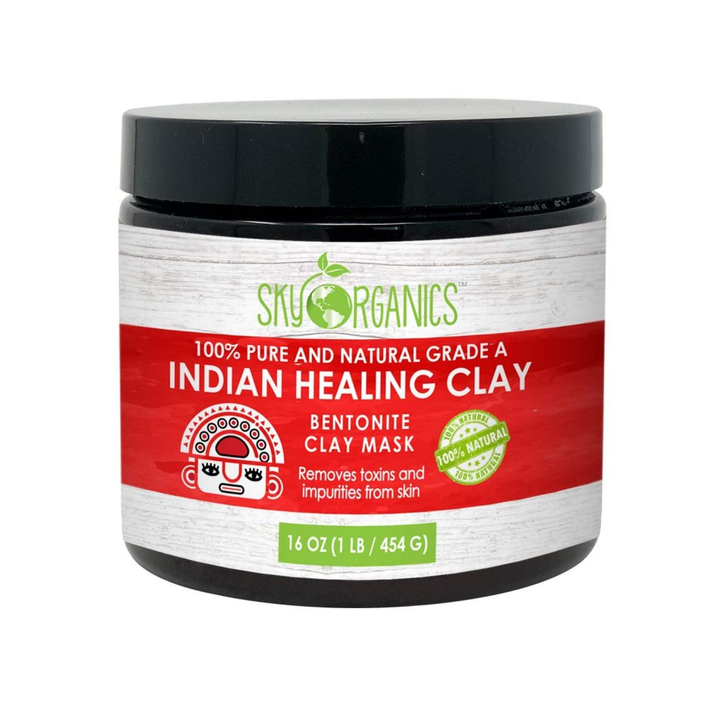 Skin care, clay face mask, purifying face mask, Sky Organics Indian Healing Clay Face Mask, Sky Organics Indian Healing Clay Face Mask